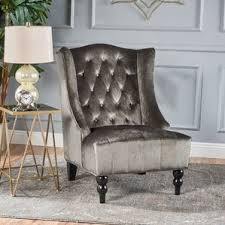 high back velvet chair wayfair