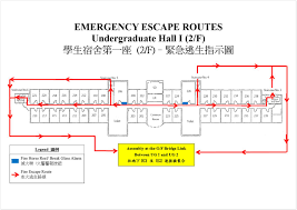 fire escape floor plan ug hall i student housing u0026 residential life