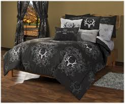 Black Comforter King Bone Collector Black Grey Bedding Collection Bass Pro Shops