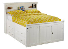 Bookcase Storage Bed Catalina Full Wht Bkcs Strg Bed White Full Beds Kids
