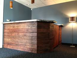 Rustic Reception Desk Wood Panel Desk Ironclad Reception Desks 2017 With Rustic