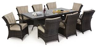 maze rattan texas 8 seat rectangle dining set
