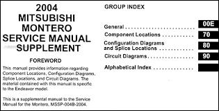 2004 mitsubishi montero wiring diagram manual original