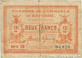 chambre de commerce de bayonne 2 francs regionalism and miscellaneous bayonne 1920 jp 021 68