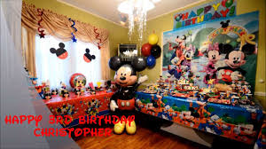 mickey mouse birthday party christopher mickey mouse birthday party