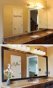 Frame Bathroom Mirror Kit by Best 25 Bathroom Mirrors Diy Ideas On Pinterest Framing Mirrors