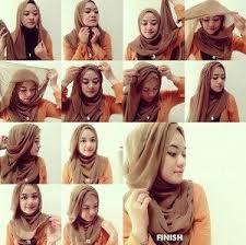 tutorial jilbab segi 4 untuk kebaya 12 tutorial hijab menutup dada untuk kebaya terbaru dan kekinian