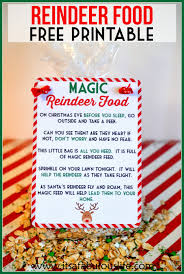 magic reindeer food poem u0026 free printable also includes the