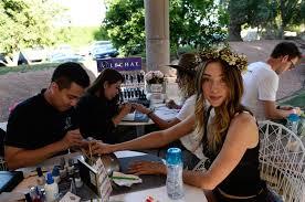 lechat does nails at victoria u0027s secret coachella event nails