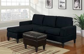 small black sectional sofa modern small black microfiber