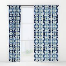 blue and tie dye window curtains society6
