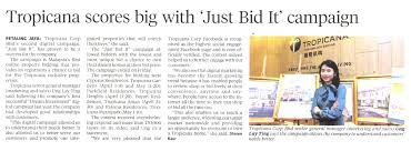 bid it new straits times 23 may 2016 tropicana scores big with just