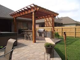 pergola design awesome outdoor kitchen designs with fireplace