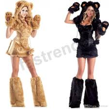 2017 women deluxe furry bear cat halloween costume xmas