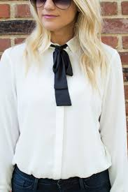 bow tie blouse bow tie blouse frame denim with white sandals le stylo