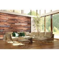 100 in h x 144 in w reclaimed wood wall mural neutral