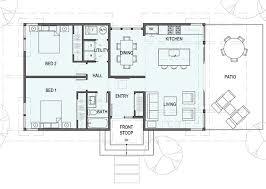 2 Bedroom 1 Bath House Plans 1 100 Square Feet 1 Story 2 Bedroom 1 Bathroom Floor Plans