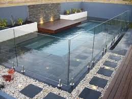 small swimming pool with glass fences pool ideas for your small