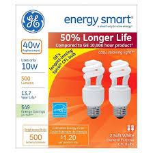 ge 40 watt cfl light bulb 2 pack soft white target