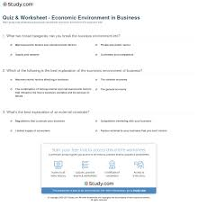 quiz u0026 worksheet economic environment in business study com
