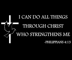 philippians 4 13 can do all things through tote bag