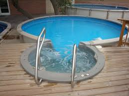 Above Ground Pool Design Ideas Wood Decks Above Ground Pools Small Round Above Ground