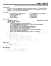 example of project manager resume best network systems manager resume example livecareer network systems manager job seeking tips