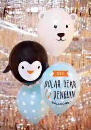 diy penguin u0026 polar bear party balloons hostess with the mostess