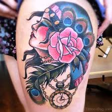 40 delightful gypsy tattoos on shoulder