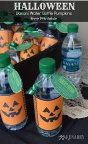halloween dasani water bottle pumpkins free printable