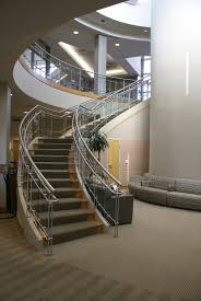 interior center stringer stair with wooden steps and wire