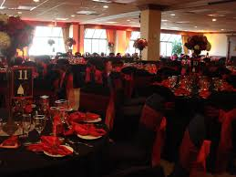 wedding reception decoration ideas red and black pink decorations