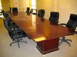 5 foot conference table 20 ft board room table with built in power used