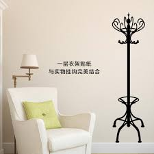new design creative crown clothes hanger vinyl wall decal stickers
