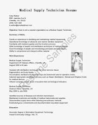 Cover Letter For Medical Esthetician Medical Supply Technician Cover Letter