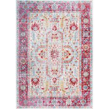 Nuloom Area Rugs Nuloom Vintage Edra Blush 5 Ft 3 In X 7 Ft 7 In Area