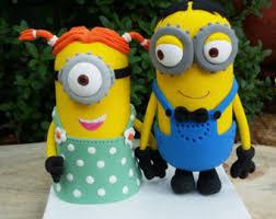 minion wedding cake topper minion etsy