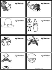 thanksgiving name tags to print enchantedlearning