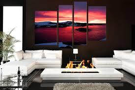 4 piece art landscape multi panel art ocean huge canvas print