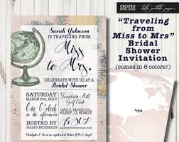 travel bridal shower invitation miss to mrs airline themed
