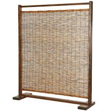 room dividers wicker screens room dividers sentinel cream 6