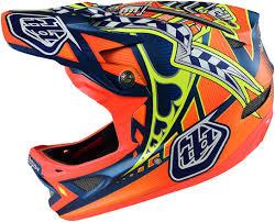 smp motocross gear troy lee designs d3 composite helmet longshot orange