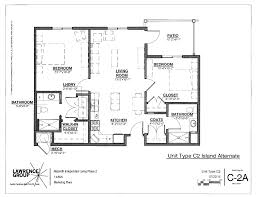 2 Bedroom Floor Plans by Independent Living 2 Bedroom 2 Bath Kitchen Island