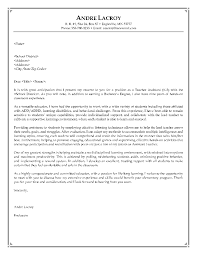 teacher cover letter examples middle teacher cover letter