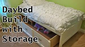 diy how to build a trundle bed with drawers daybed with trundle