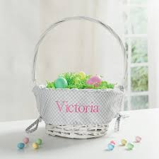 personalized easter basket liner personalized easter basket with grey liner personalized planet