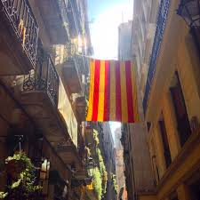 Flag Of Catalonia Catalan Flag In The Streets Of Barcelona U2013 Fottles Travels A