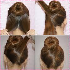 tutorial menata rambut panjang simple cara membuat sanggul modern sederhana dalam 3 langkah