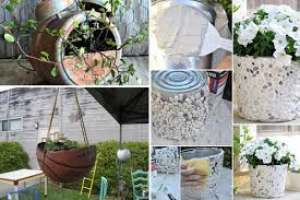 Garden Pots Ideas 24 Whimsical Diy Recycled Planting Pots On The Cheap Amazing Diy