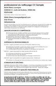 recherche emploi nettoyage bureau modele de cv professionnel du nettoyage moncvparfait